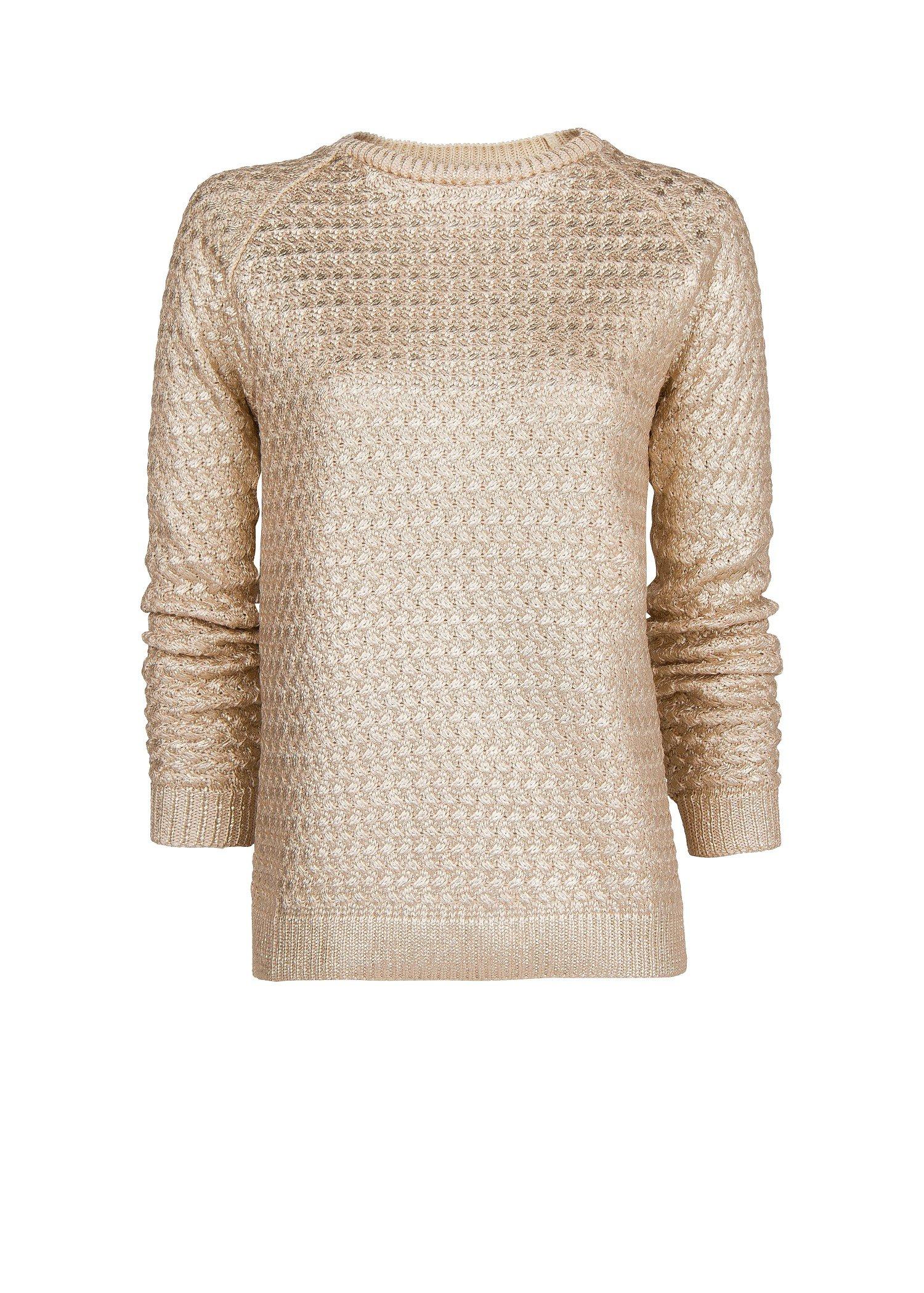 Mango Textured Metallic Sweater in Metallic | Lyst