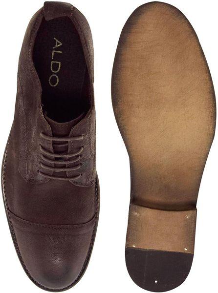 aldo mumm toe cap shoes in brown for lyst