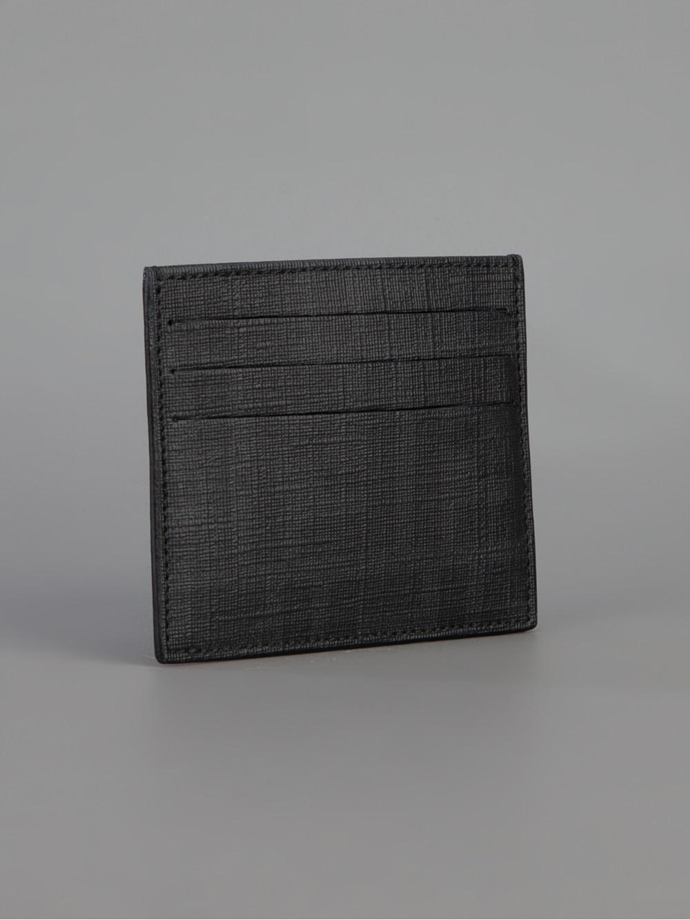 Lyst - Fendi Zucca Card Holder in Black for Men