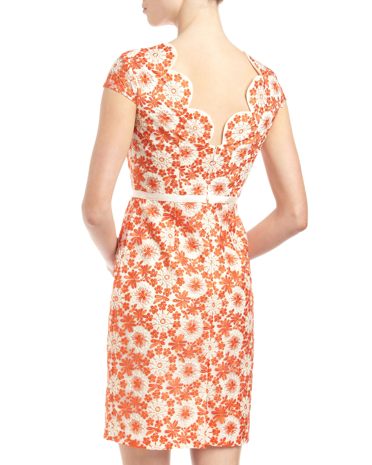 Muse floral embroidered organza dress in lyst