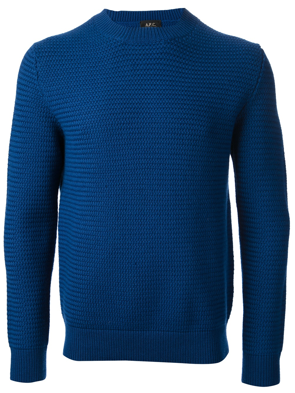 A.p.c. Knit Sweater in Blue for Men | Lyst