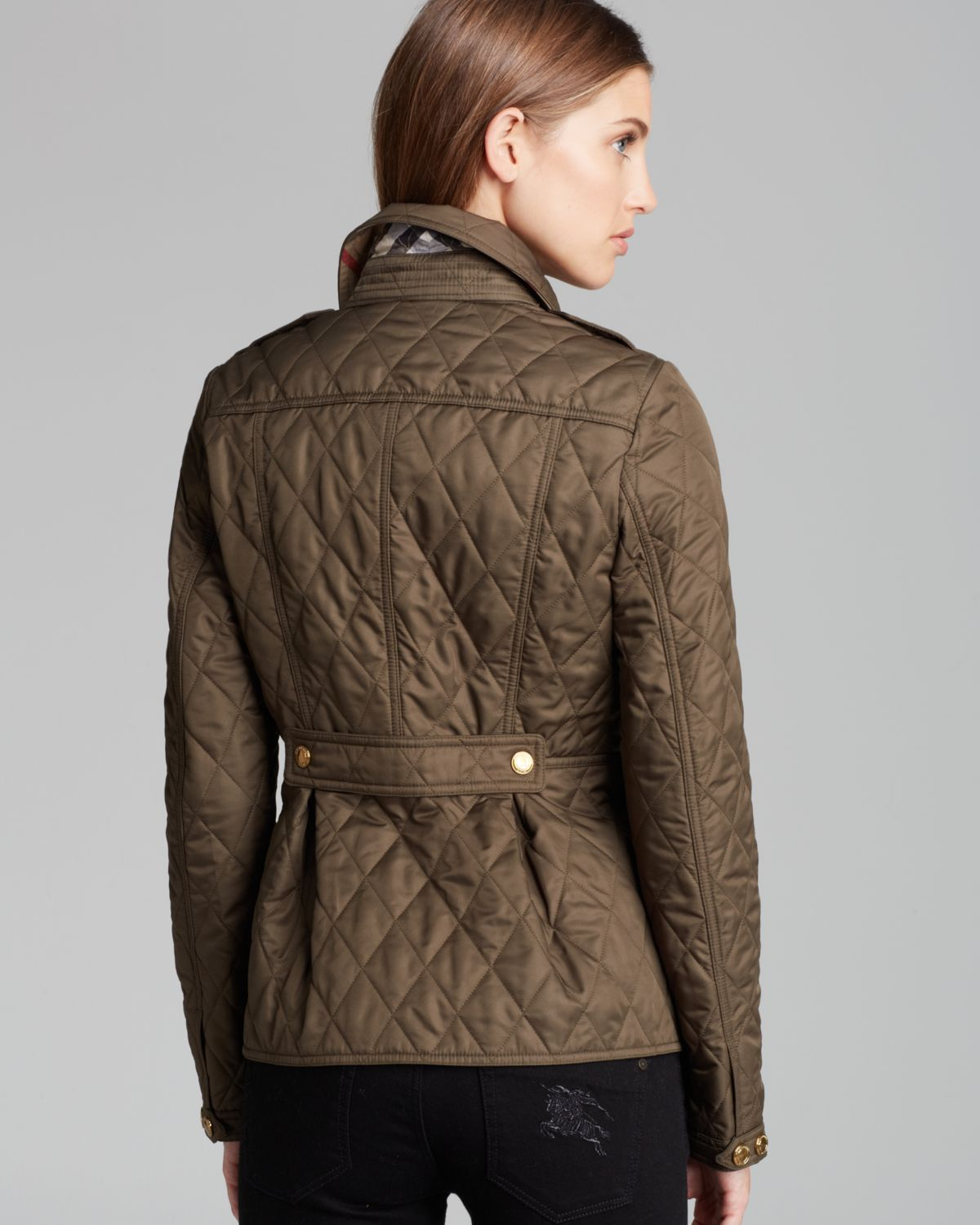 Lyst Burberry Brit Moredale Quilted Jacket In Natural