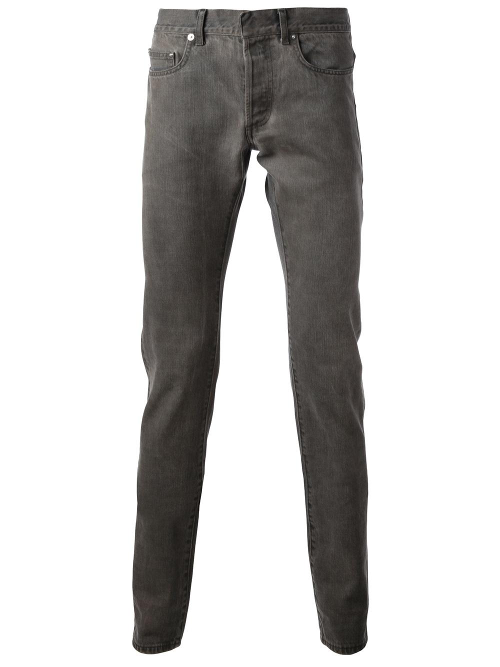 lyst dior homme slim jean in gray for men. Black Bedroom Furniture Sets. Home Design Ideas