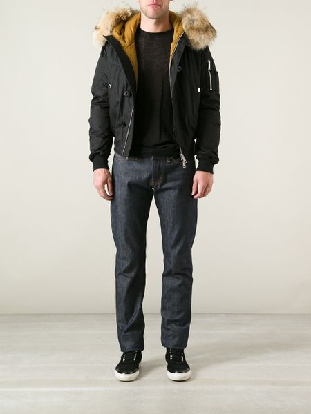 Dsquared2 Padded Jacket In Black For Men Lyst
