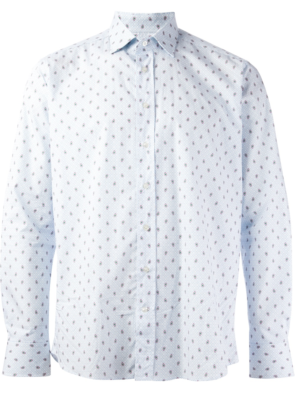 Etro Printed Shirt in White for Men | Lyst