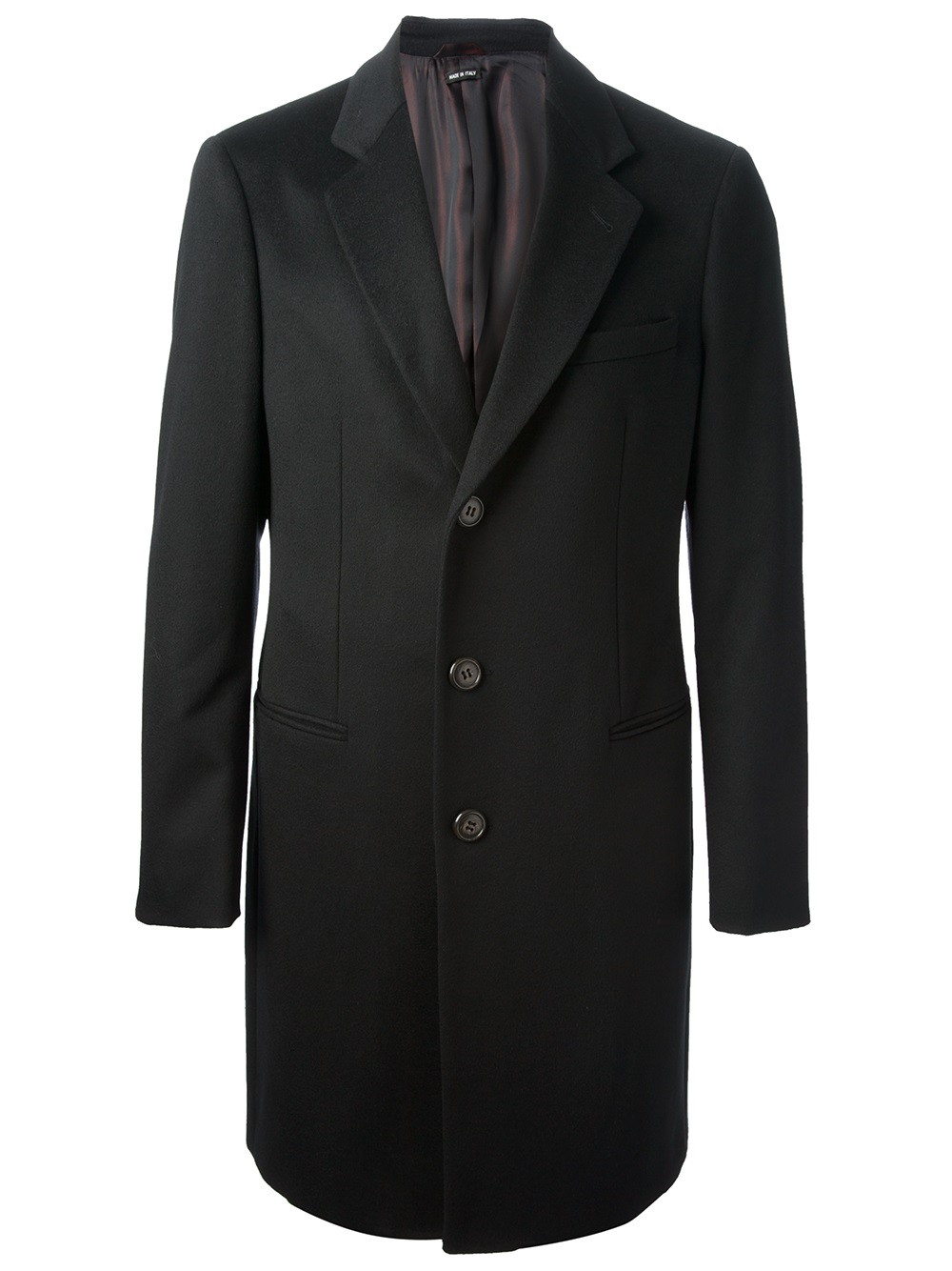 Giorgio Armani Dress Coat In Black For Men Lyst