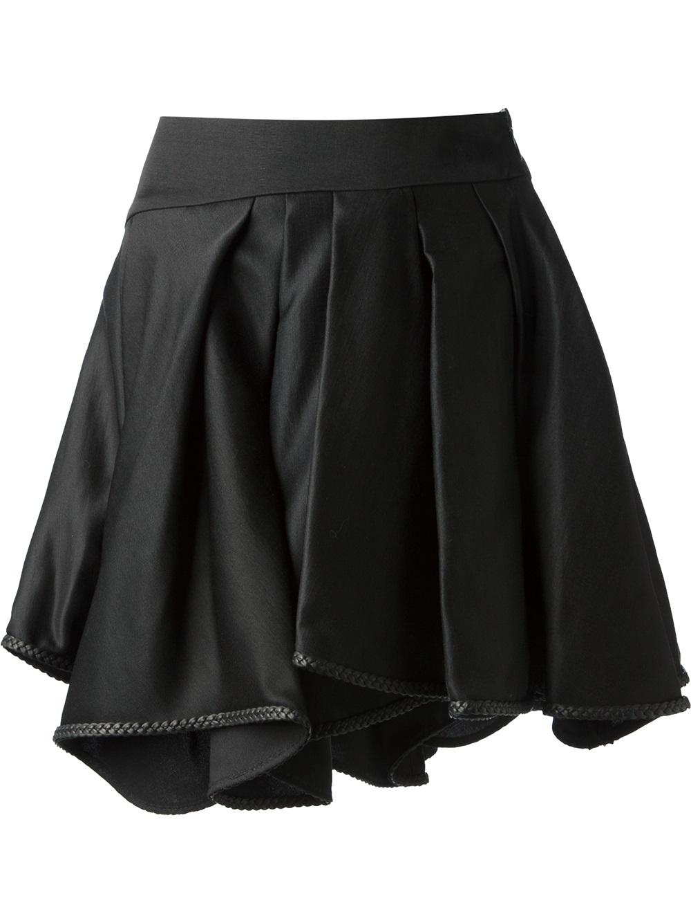 ahr pleated mini skirt in black lyst