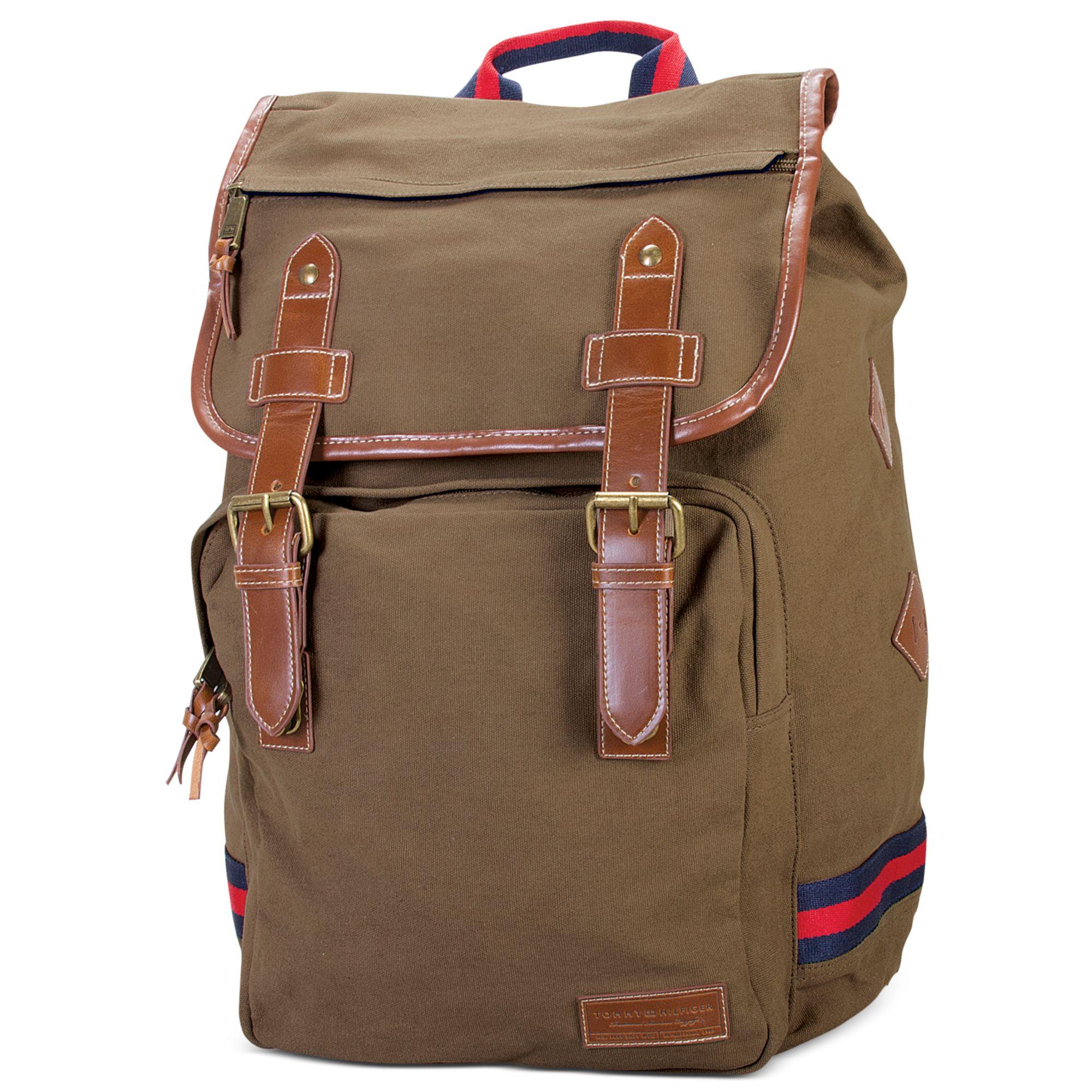 tommy hilfiger canvas backpack in khaki for men lyst. Black Bedroom Furniture Sets. Home Design Ideas