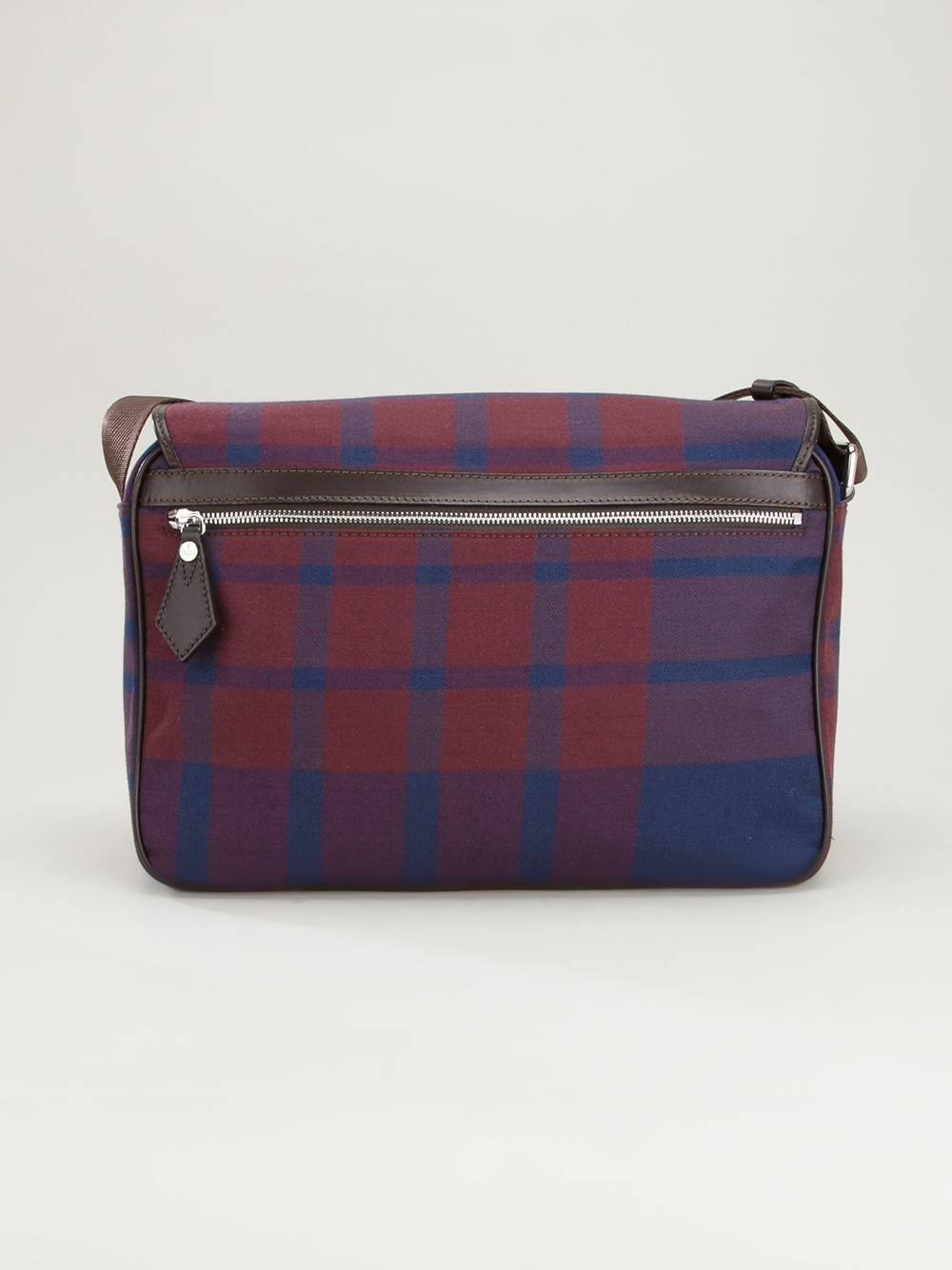 vivienne westwood checked messenger bag in blue for lyst