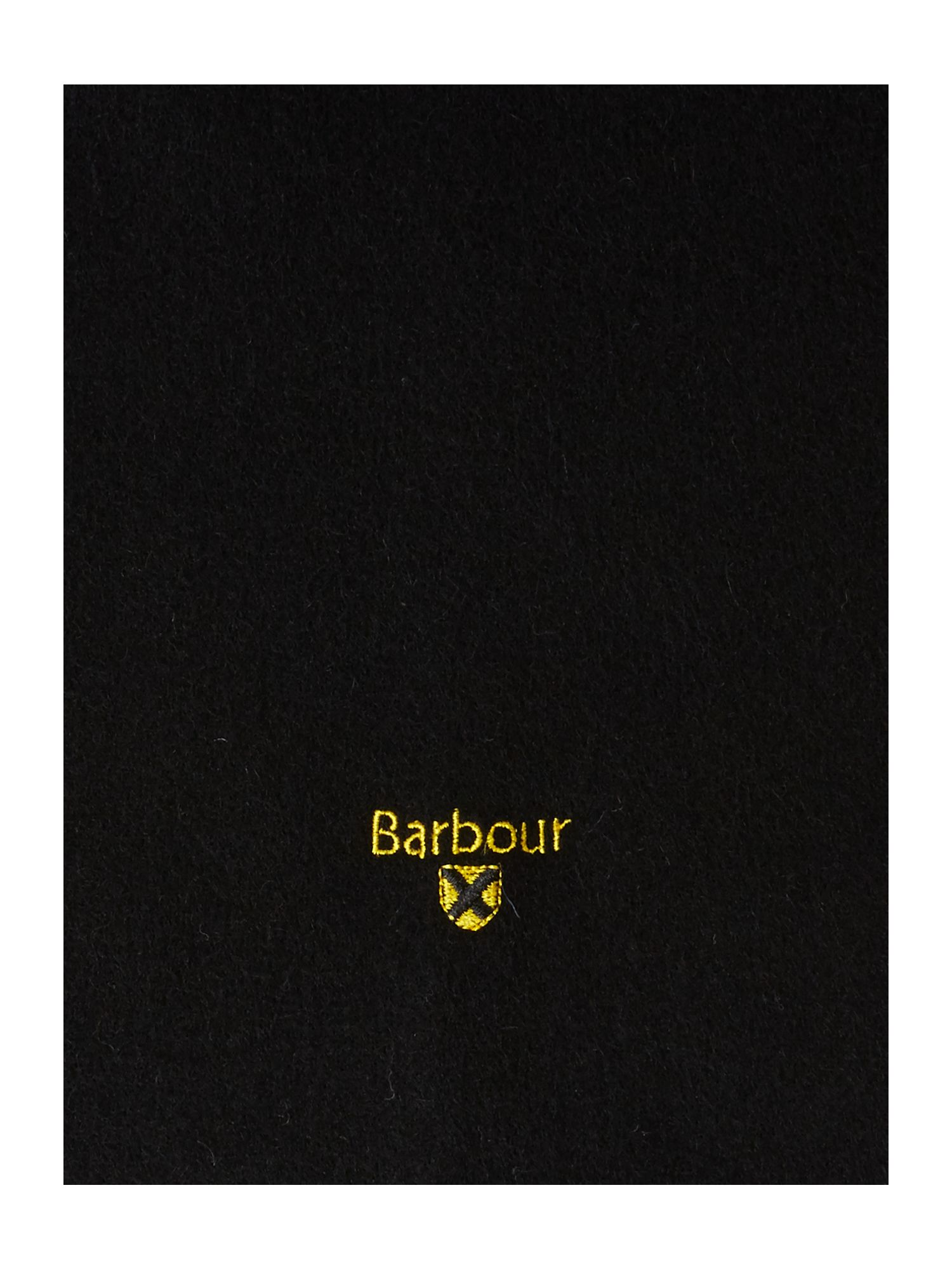 Lyst Barbour Plain Lambswool Scarf In Black For Men