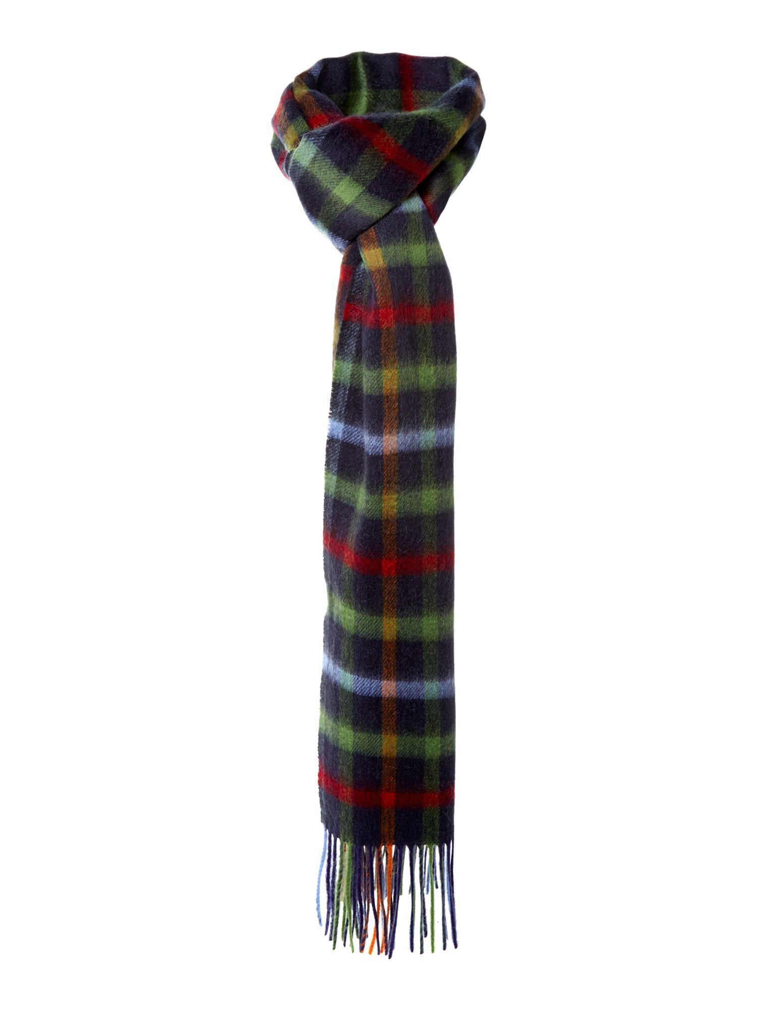 barbour bolt tattersall scarf in blue for lyst