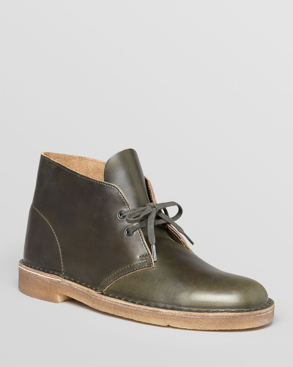 Clarks Leather Desert Boots in Green