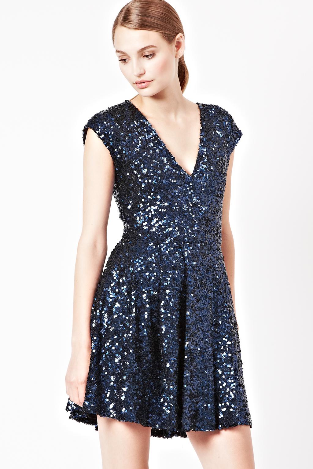 Blue Sequin Dresses