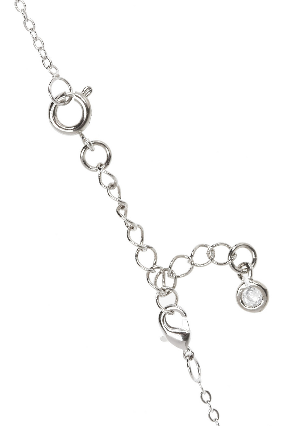 Kenneth Jay Lane Rhodiumplated Cubic Zirconia Necklace in Silver (Metallic)