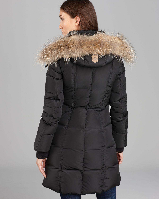 Mackage Down Coat Eileen Lavish Fur Trim Hood in Black | Lyst