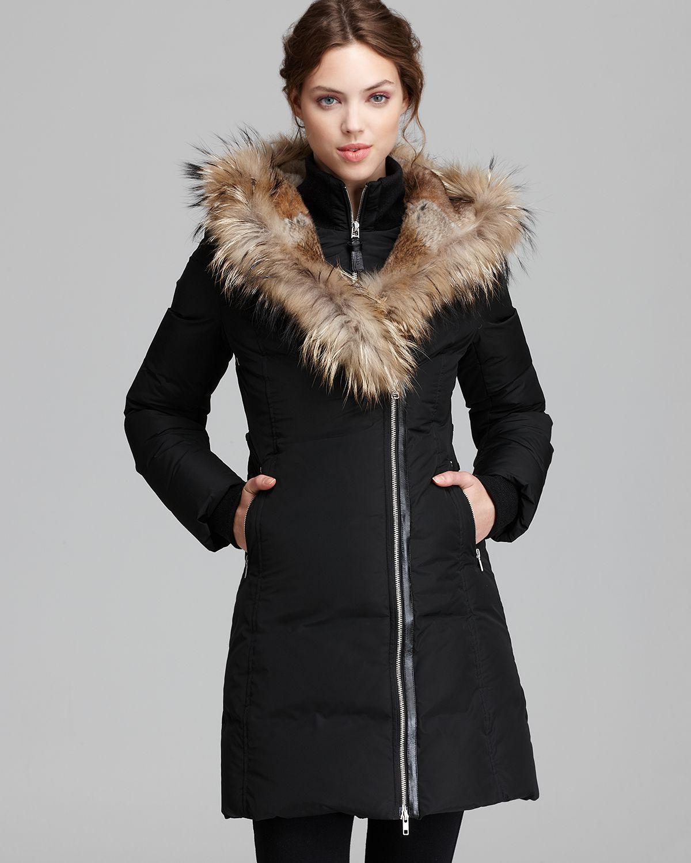 Mackage Down Coat Trish Lavish Fur Trim Hood in Black | Lyst