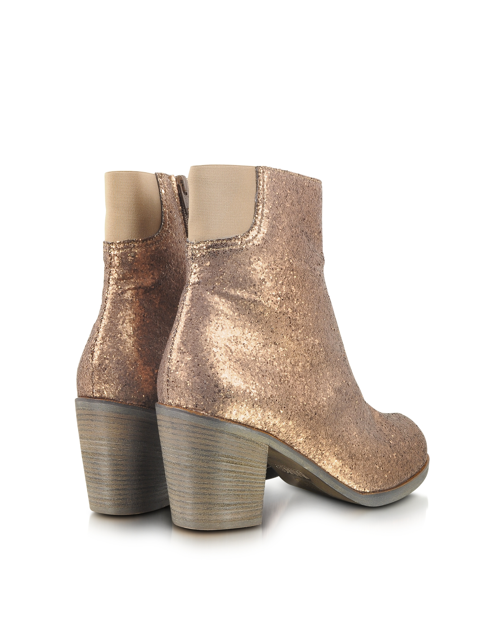 mm6 by maison martin margiela glitter ankle boot in