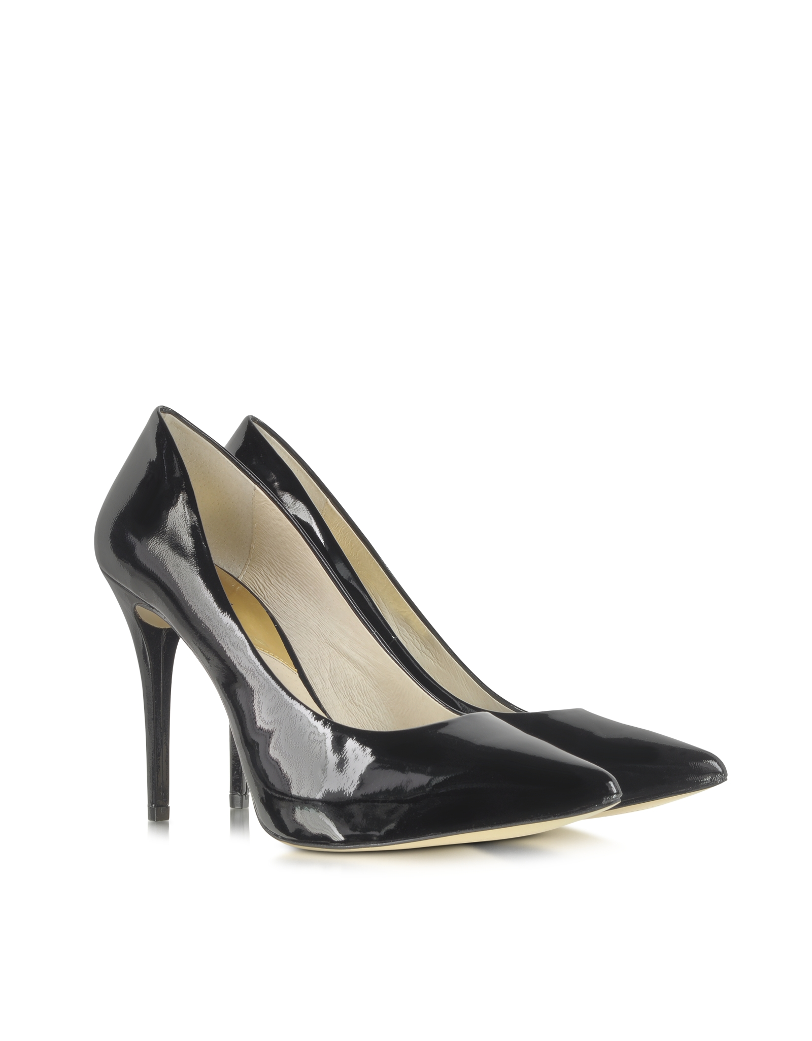 michael kors joselle black patent leather pointedtoe pump in black lyst. Black Bedroom Furniture Sets. Home Design Ideas