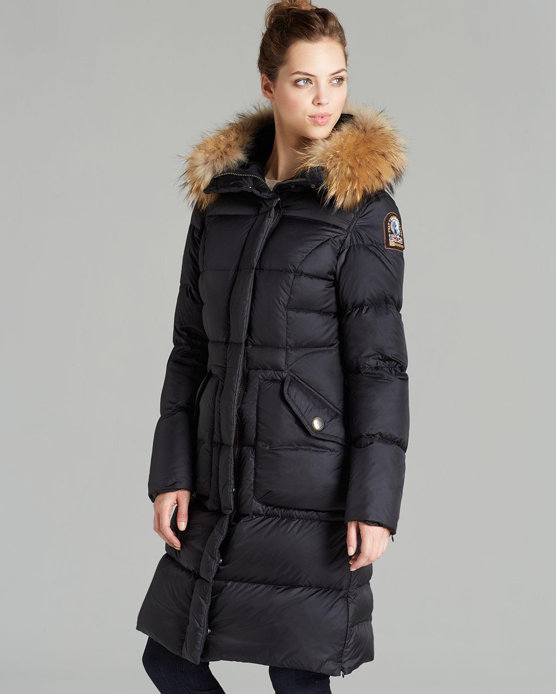 Parajumpers Down Coat Michelle Fur Hood In Black