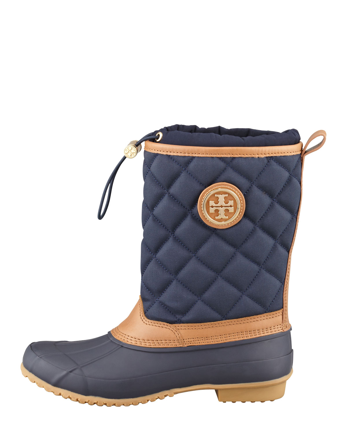 Tory Burch Denal Quilted Rain Boot Bright Navy In Blue Lyst
