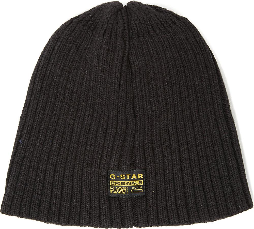 e33d0c479 G-Star RAW Milton Originals Knitted Beanie Hat in Black for Men - Lyst