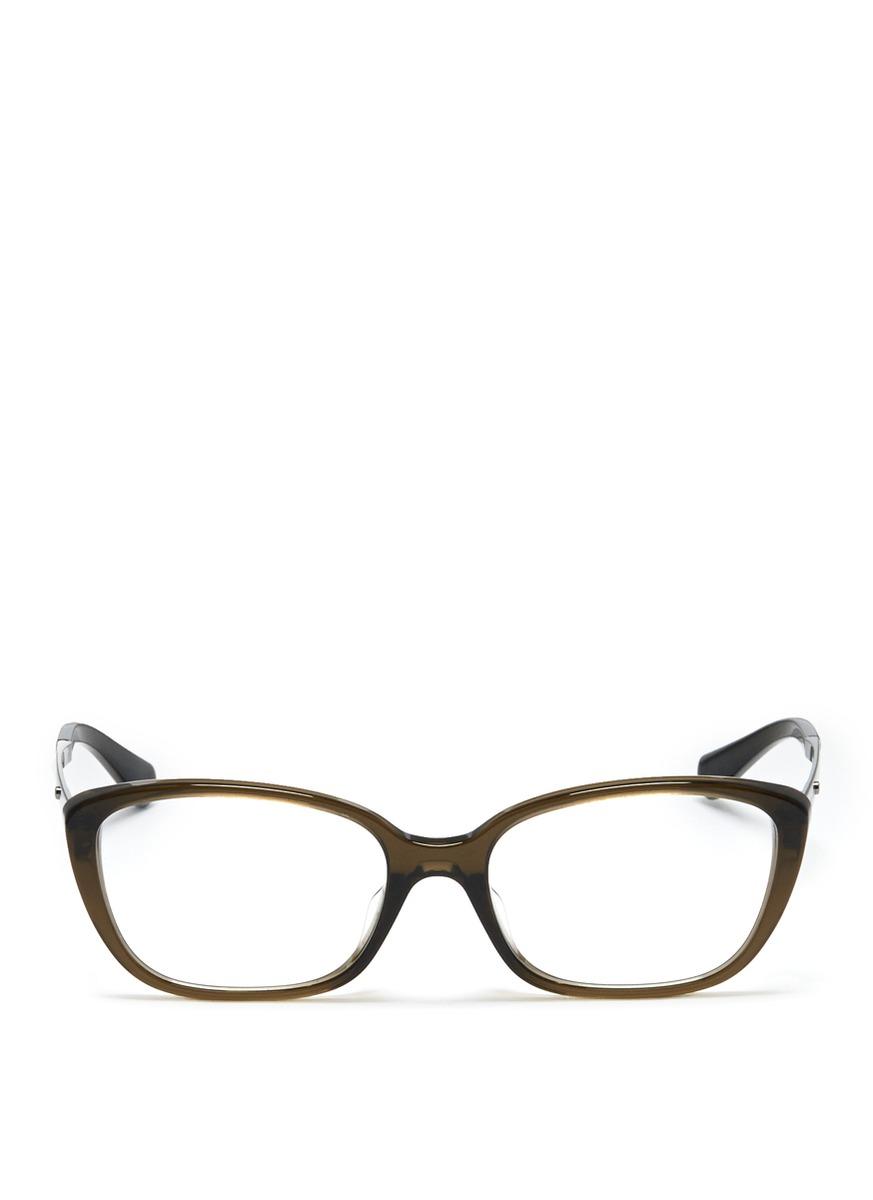White Frame Armani Glasses : Giorgio Armani Plastic Frame Glasses in Blue for Men (Blue ...