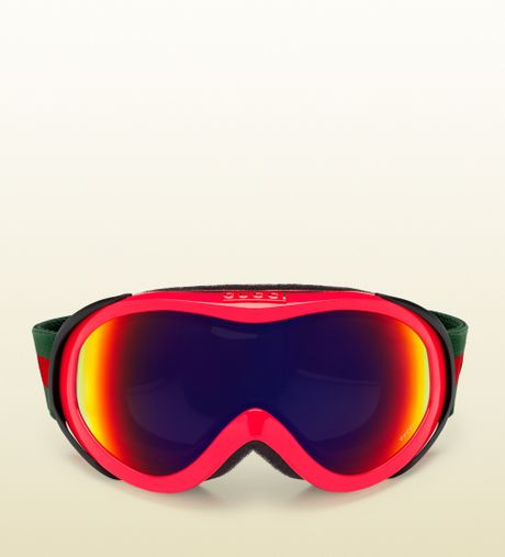 Gucci Neon Fuchsia Ski Goggles In Red For Men Fuchsia Lyst