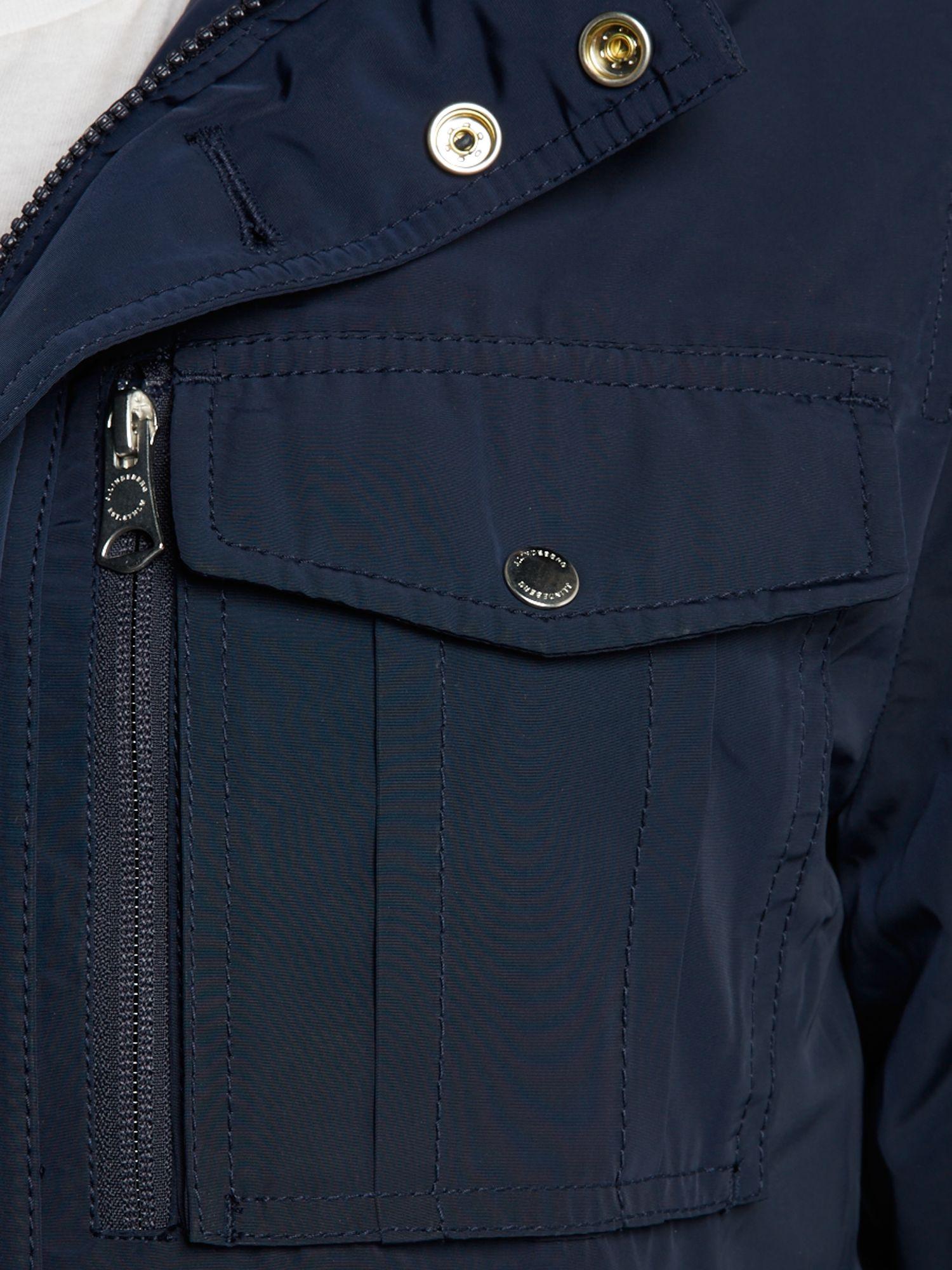 J.Lindeberg Structured Jacket in Dark Navy (Blue) for Men