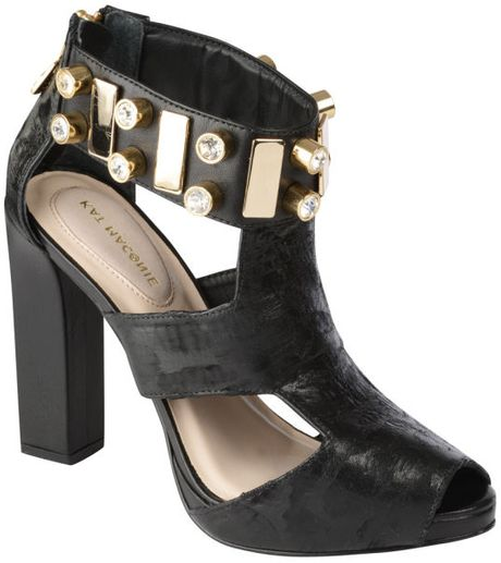 Kat Maconie Chloe Jewelled Heels in Black
