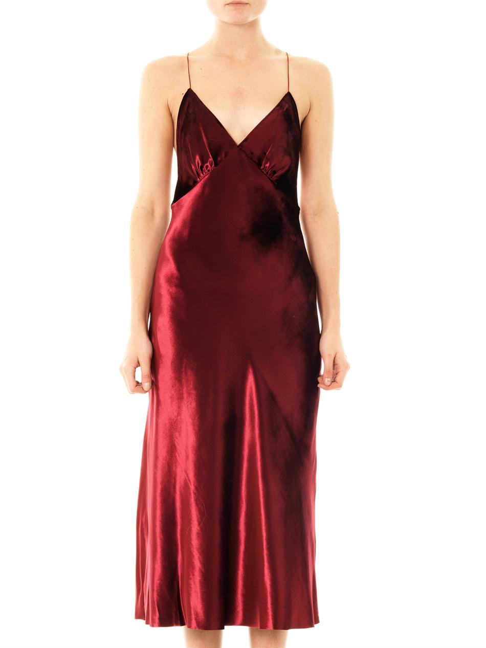 Marc Jacobs Velvet Crossback Dress In Red Lyst
