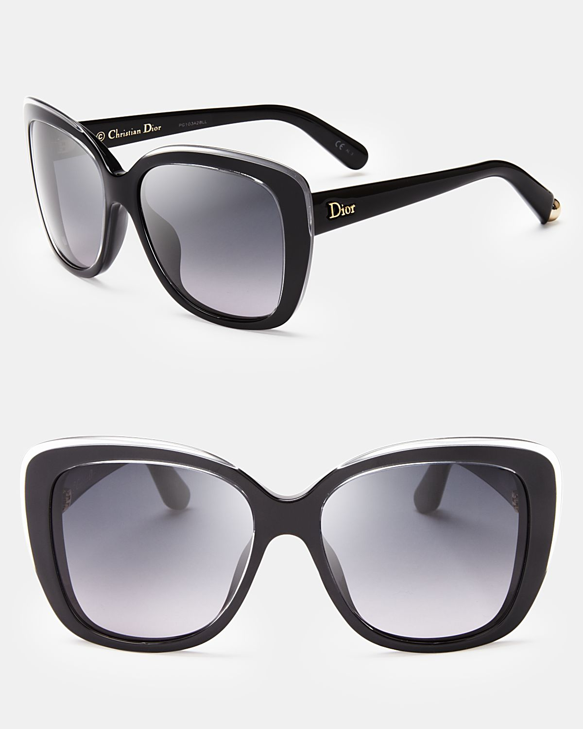 Dior Promesse 2 Oversized Cat Eye Sunglasses In Black Lyst