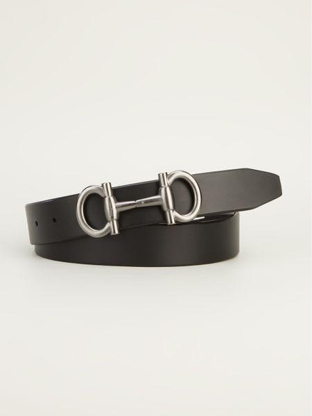 Ferragamo Parigi Buckle Belt in Black for Men - Lyst