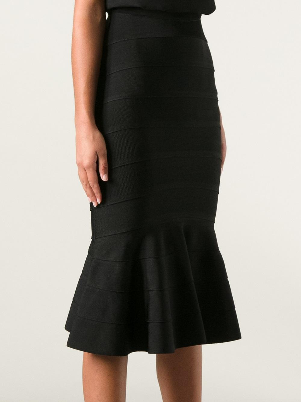 givenchy ribbed knit peplum hem skirt in black lyst. Black Bedroom Furniture Sets. Home Design Ideas