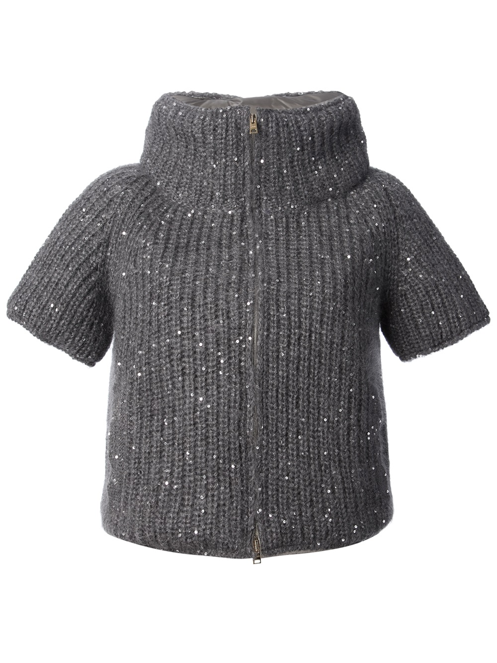 922bedd89cf84e Lyst - Herno Chunky Knit Top in Gray