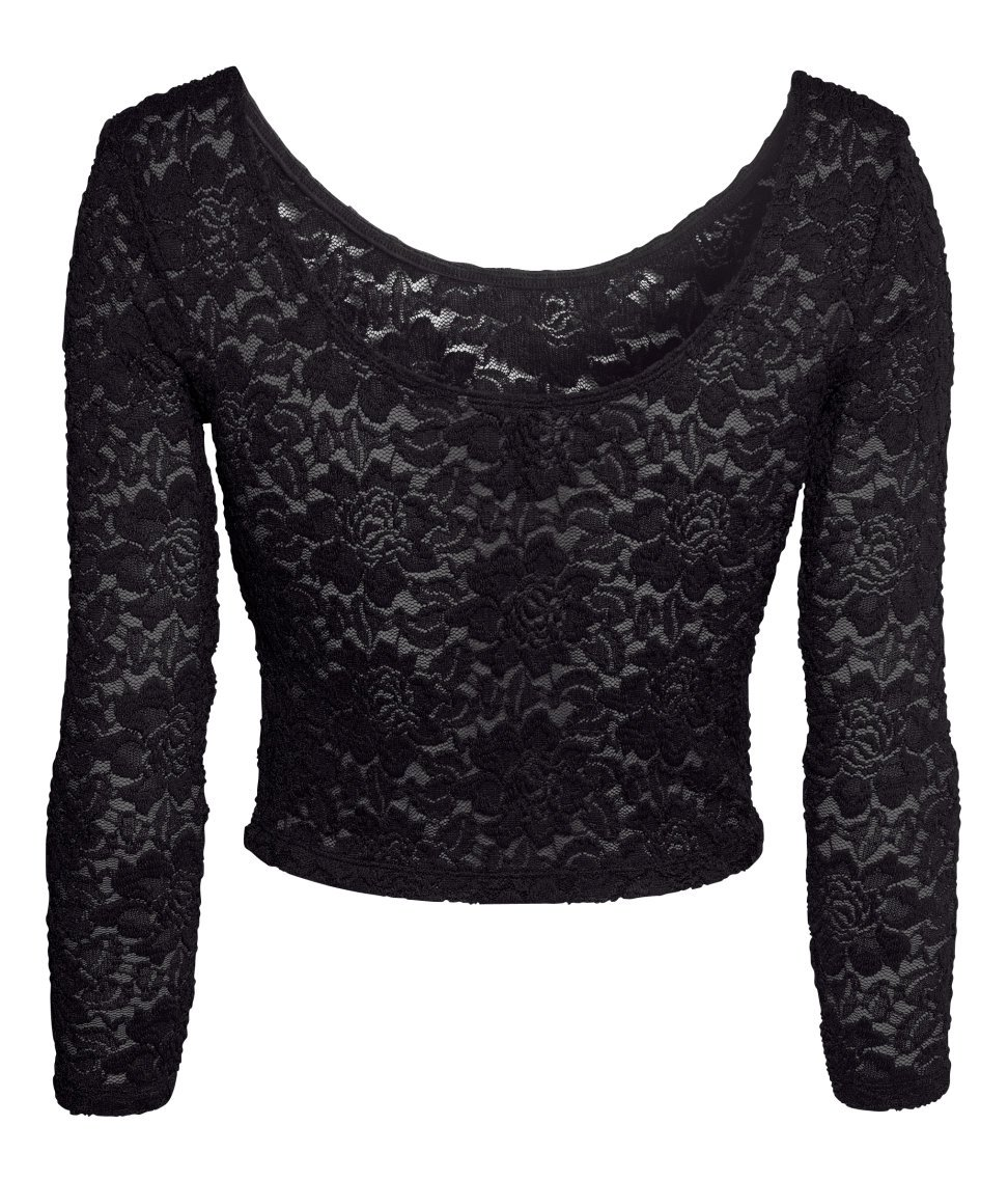 47097aaab78 H&M Black Lace Top