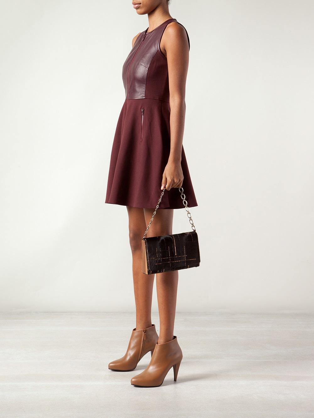 Jill haber Sequin Shoulder Bag in Brown | Lyst