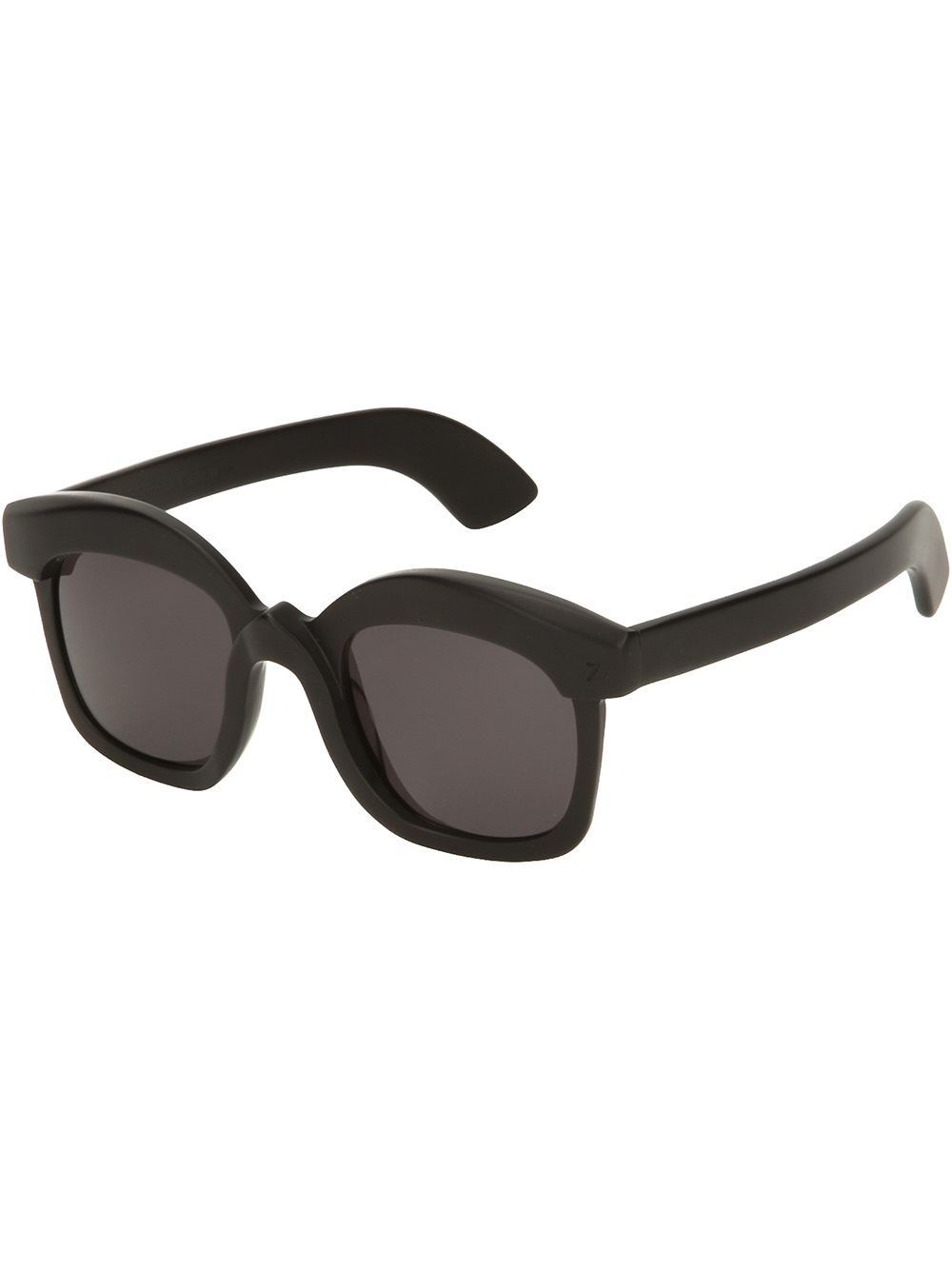 Black Frame Square Glasses : Kuboraum Square Frame Sunglasses in Black Lyst