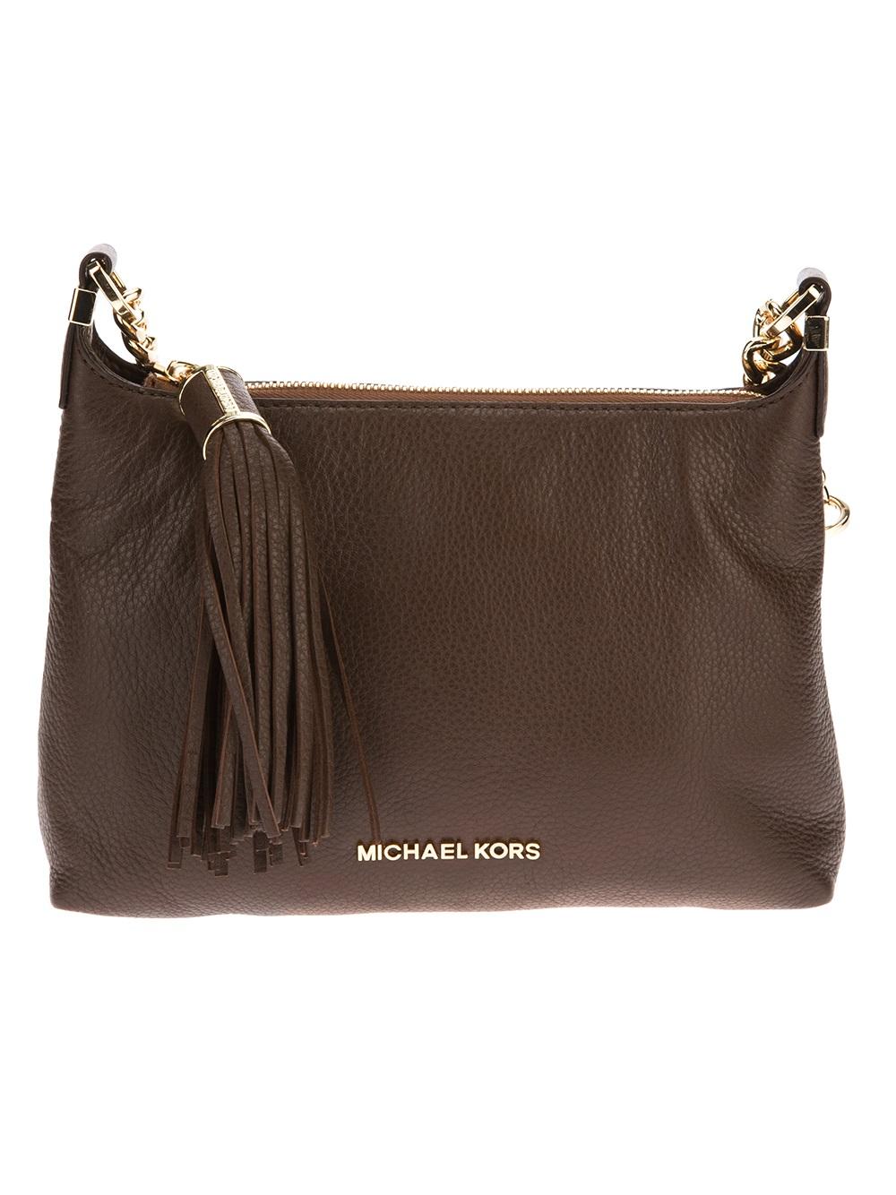 01e9b809d6e976 Michael Kors Weston Small Messenger Bag in Brown - Lyst
