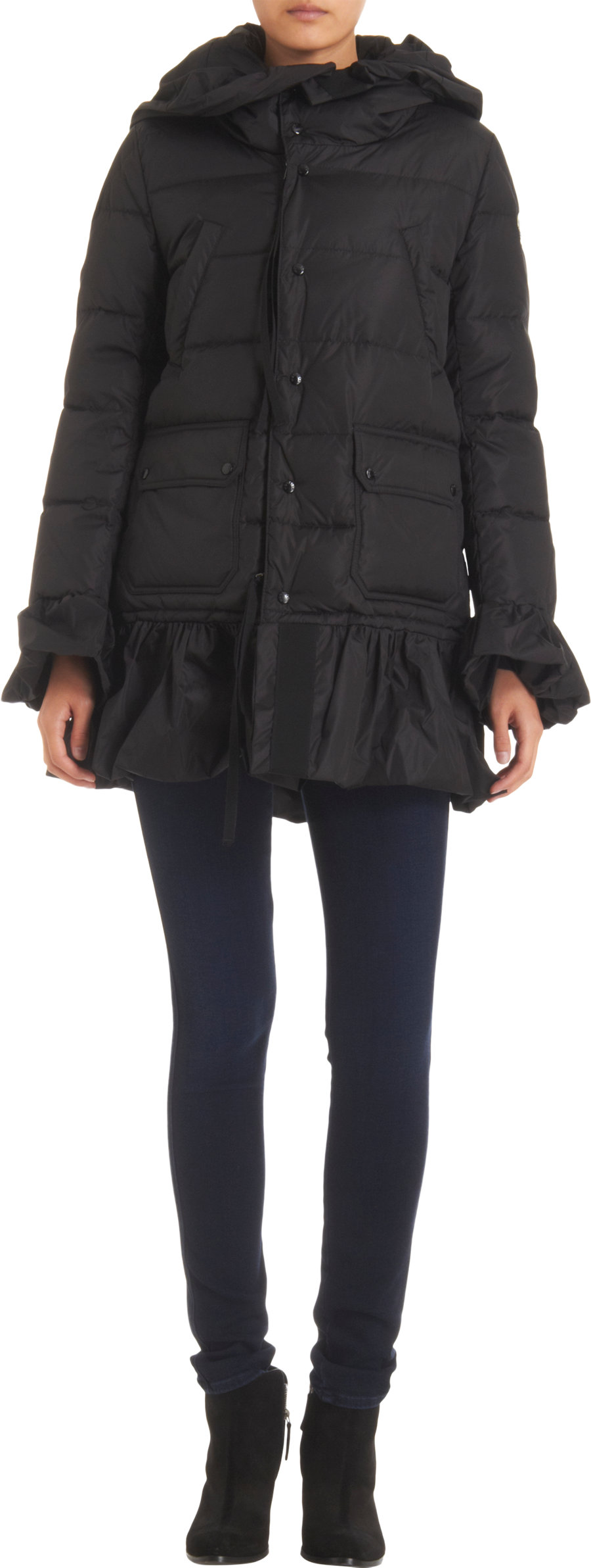 17b45bbec shopping moncler jacket ruffles and lace 24ed9 abf02