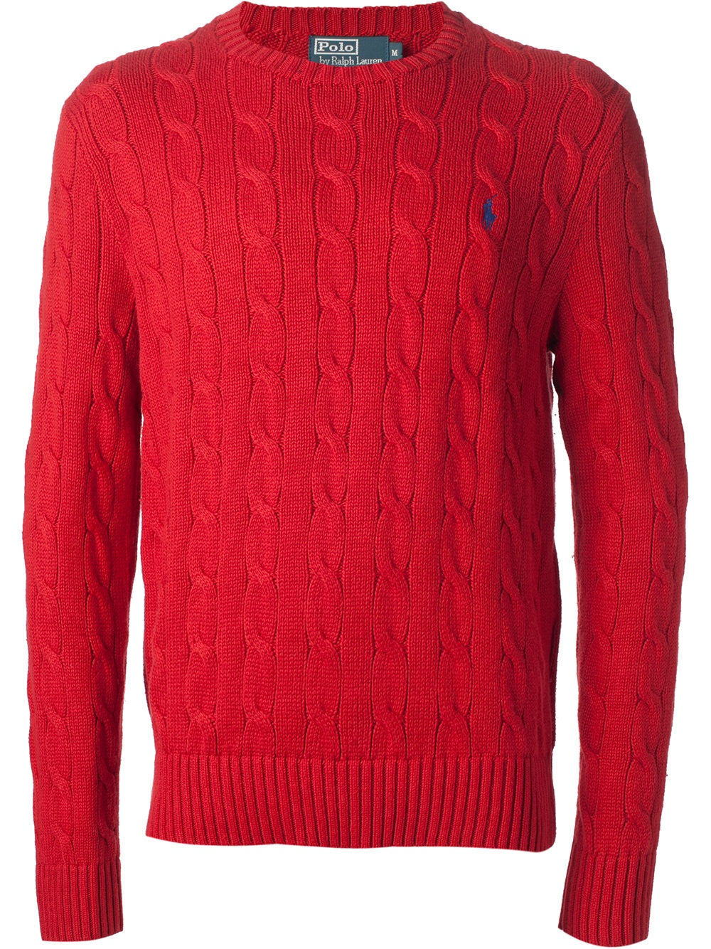 Polo ralph lauren Cable Knit Sweater in Red for Men | Lyst