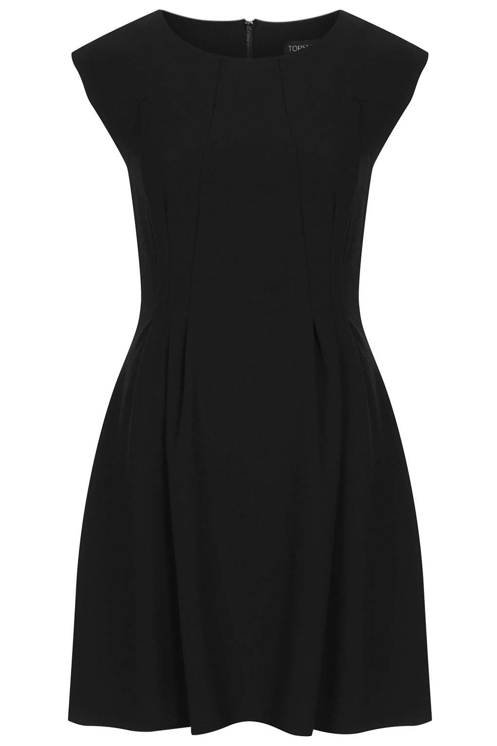 Lyst Topshop Crepe Seam Flippy Dress In Black