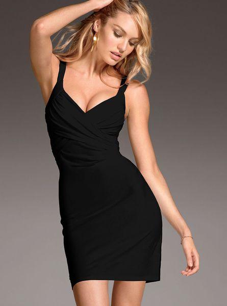 Victoria 39 S Secret Crossfront Bra Top Dress In Black Lyst