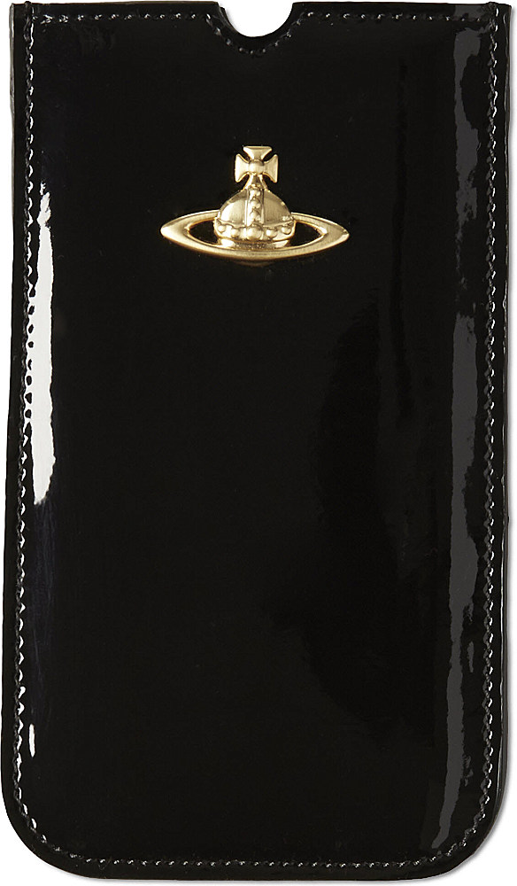 sneakers for cheap 720cc ca078 Vivienne Westwood Black Patent Leather Iphone Case
