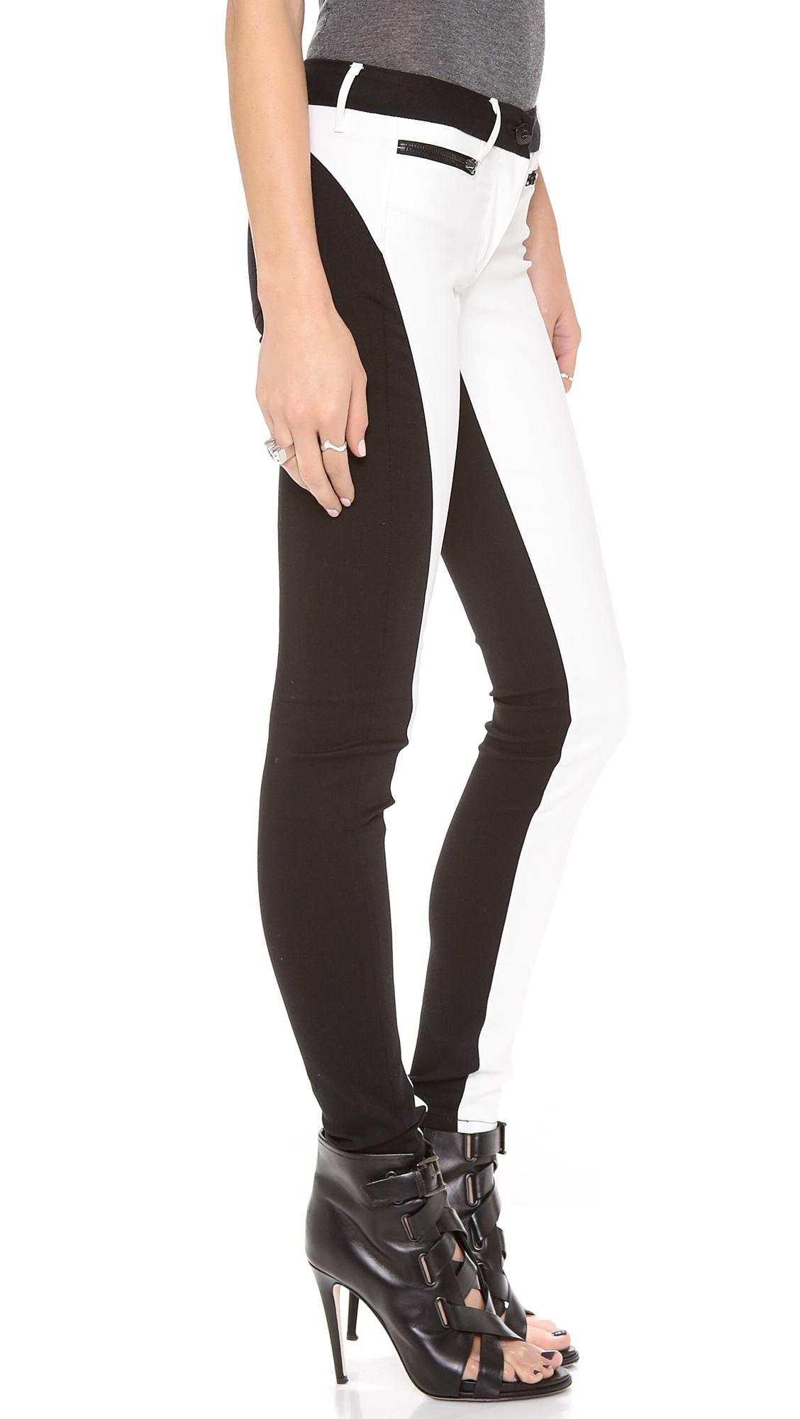 3x1 Wrap Zip Skinny Jeans in Black