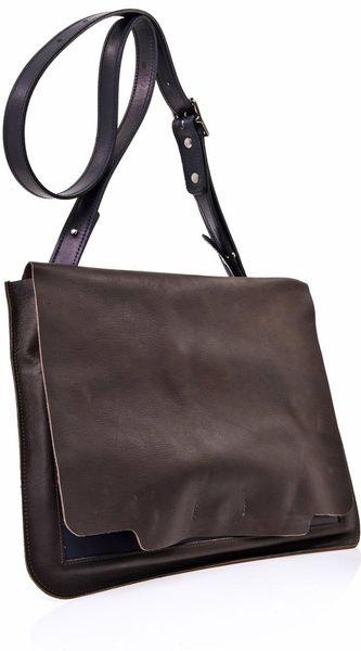 bill amberg drake leather messenger bag in brown for men lyst. Black Bedroom Furniture Sets. Home Design Ideas