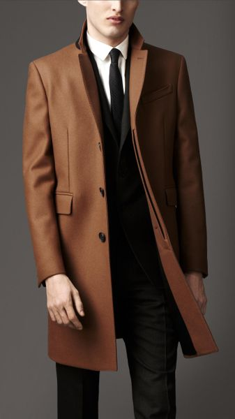 burberry rainwear cashmere crombie in brown for men camel lyst. Black Bedroom Furniture Sets. Home Design Ideas