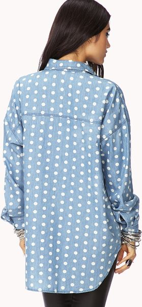 Polka Dot Womens Shirt