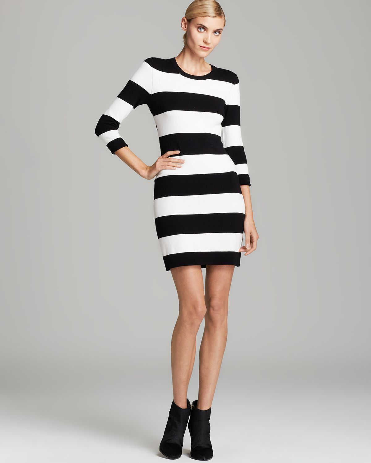 Sweater Dresses Black and White