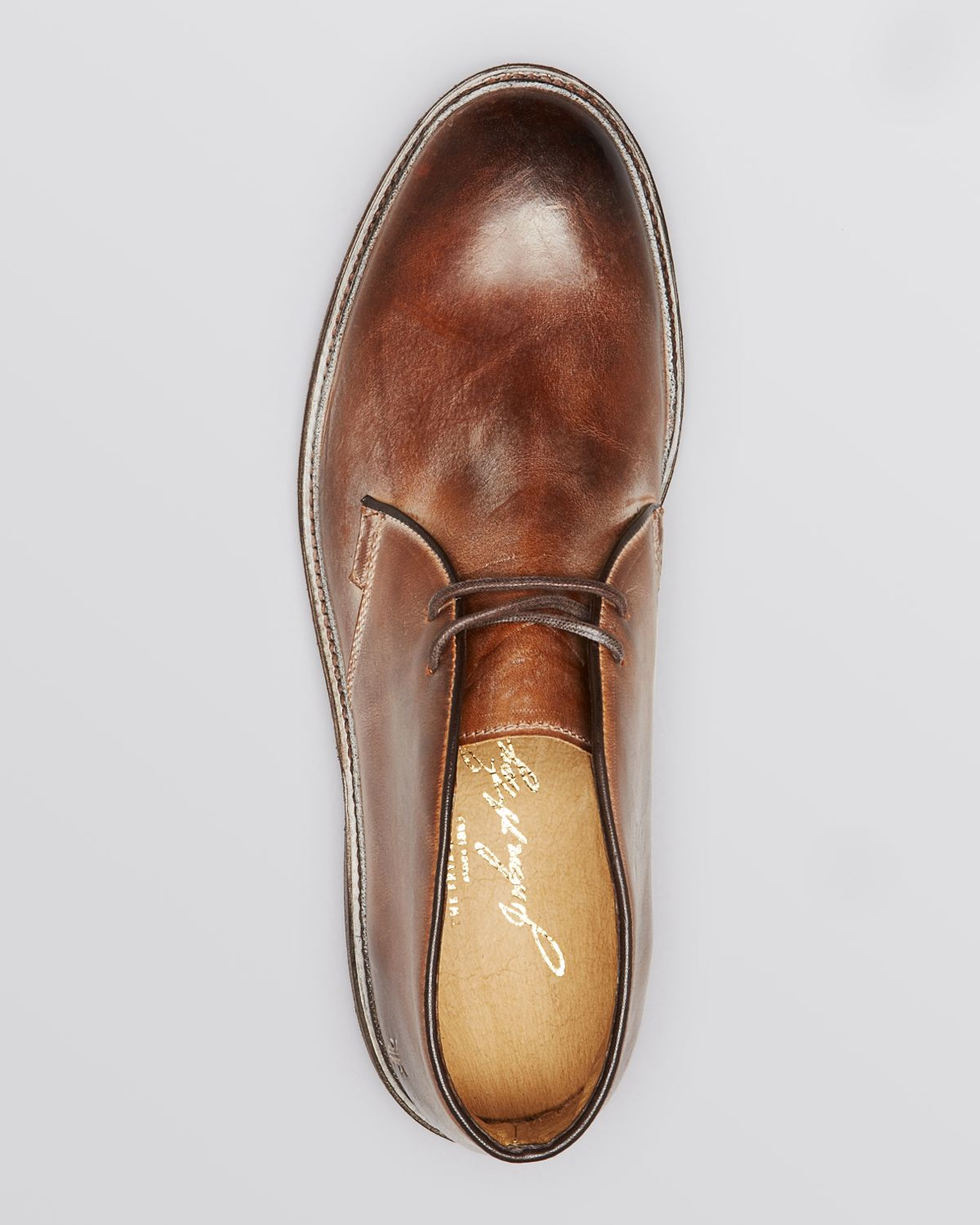 Lyst Frye James Leather Chukka Boots In Brown For Men
