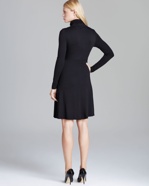 Karen Kane Turtleneck Dress In Black Lyst
